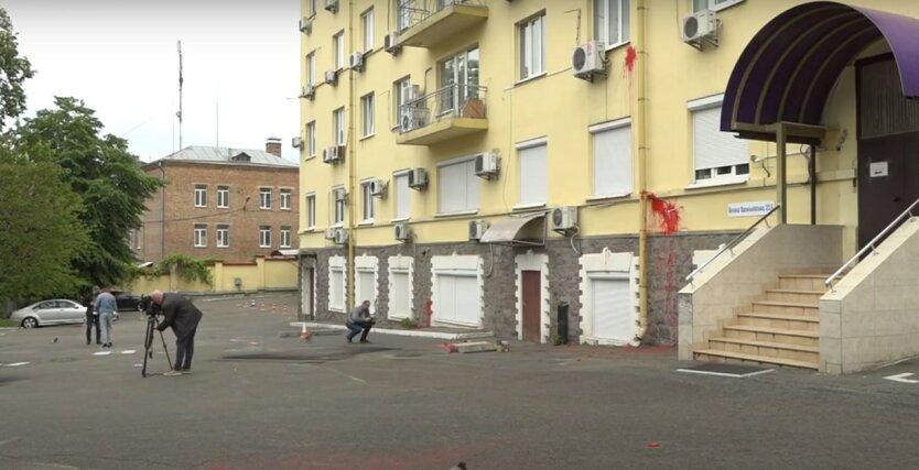 Нападение на офис Медведчука,взрыв у офиса Медведчука,Виктор Медведчук,ОПЗЖ