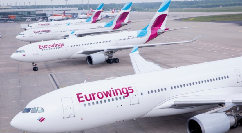 Лоукостер Eurowings, самолеты