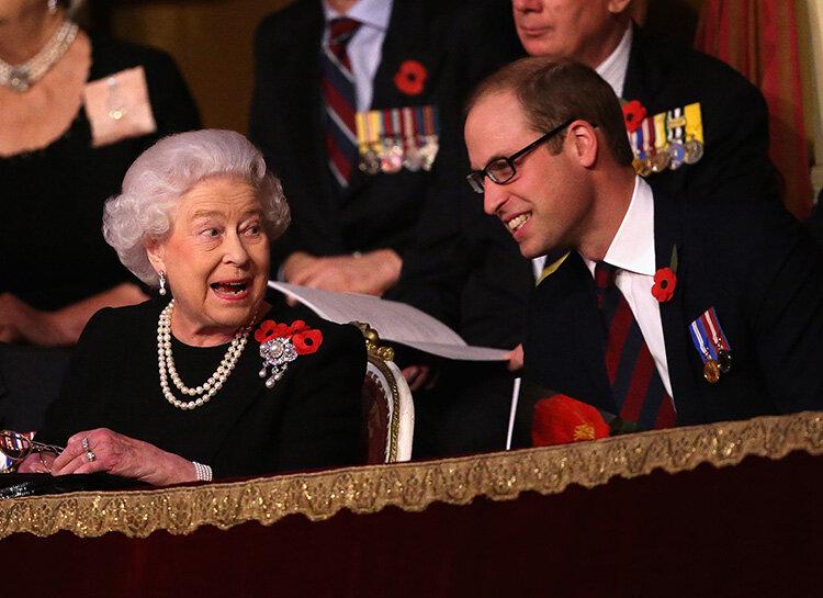 Елизавета II и принц Уильям