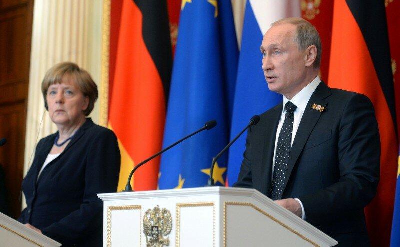 Ангела Меркель Владимир Путин3