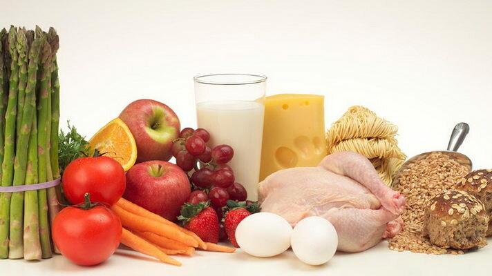 продукты яйца молоко овощи фрукты хлеб
