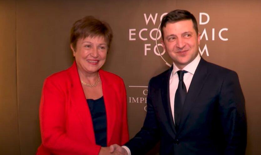 Кристалина Георгиева и Владимир Зеленский