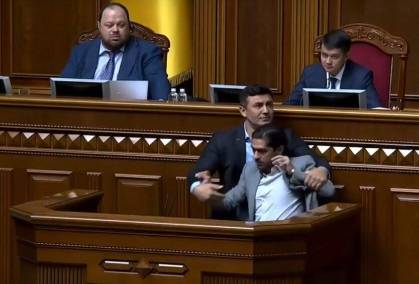 Потасовка в Раде Николая Тищенко и Гео Лероса