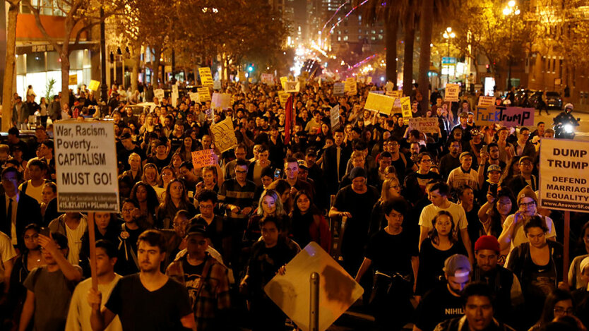 протест трамп