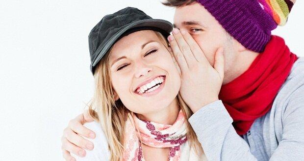 смех пара девушка парень молодежь