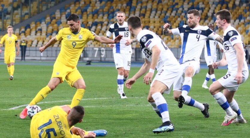 Сборная Украины обыграла Финляндию в отборочном матче чемпионата мира