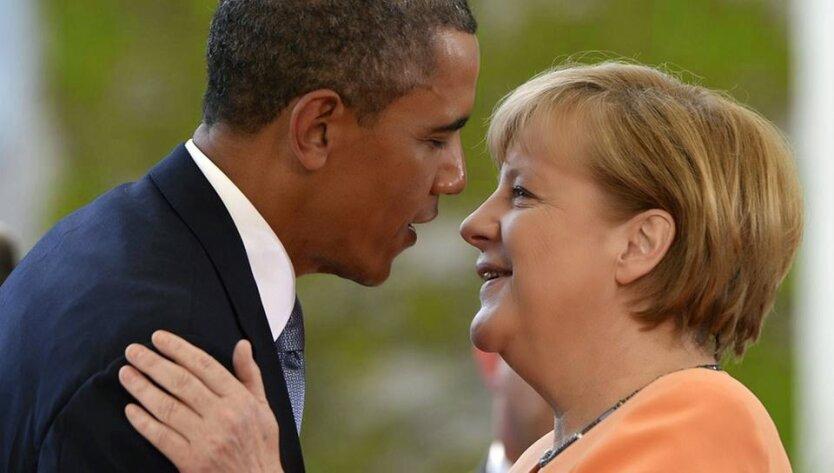 Барак Обама Ангела Меркель