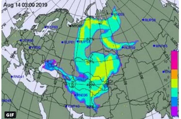 карта радиации
