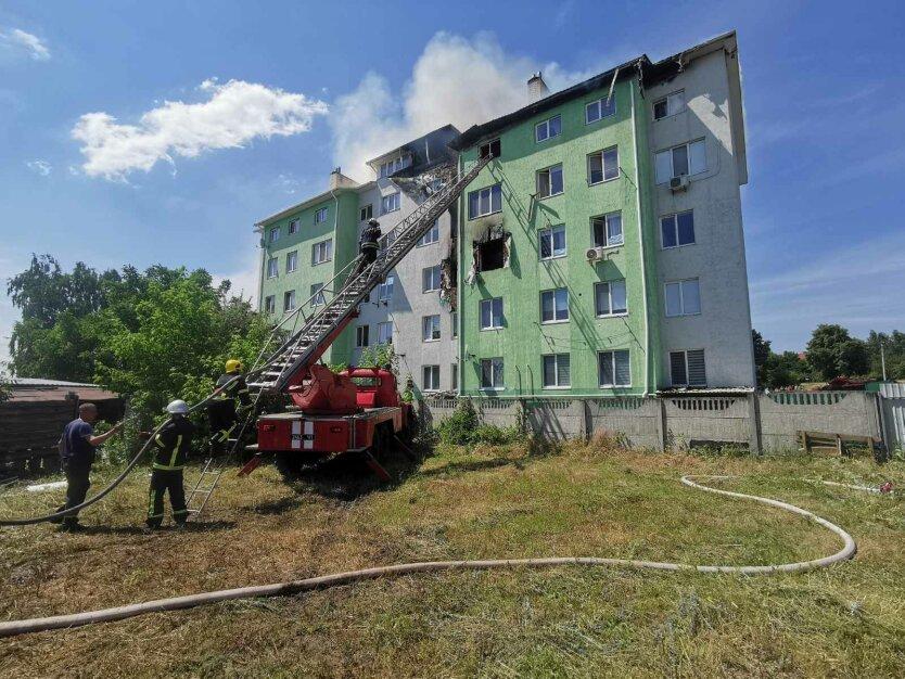 Пожар в Белогородке под Киевом