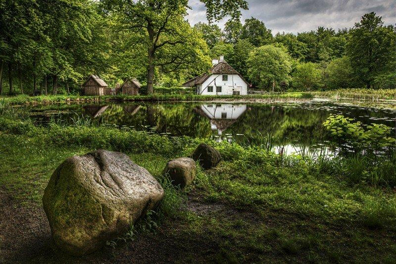 Дания село зелень дом природа