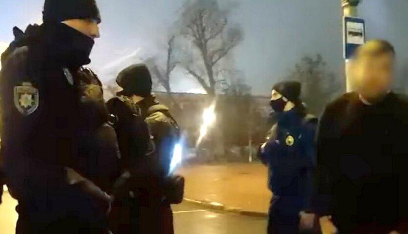 Пьяный «мажор» угрожал полицейским в центре Киева