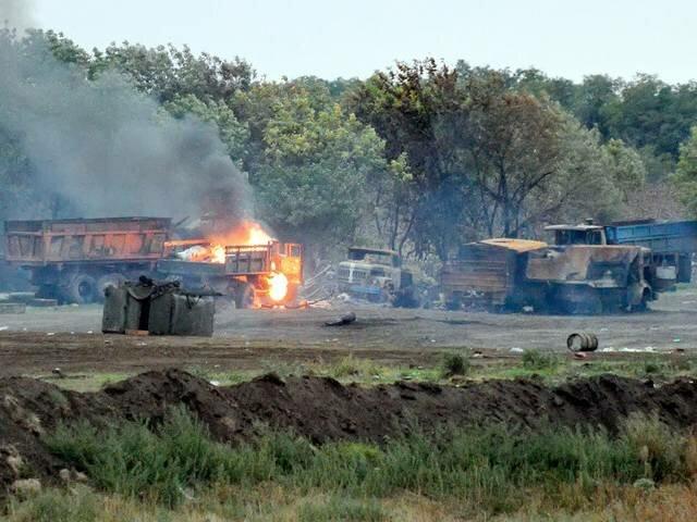 блокпост украинских военных в луганской области