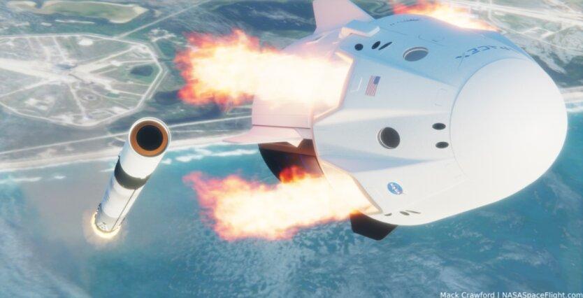 Crew Dragon's launch