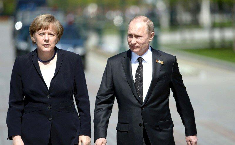 Ангела Меркель Владимир Путин 10 мая