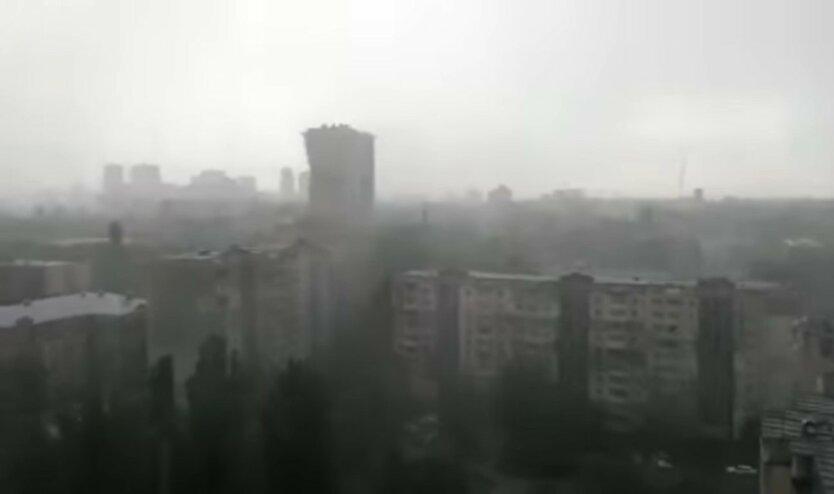 """Киев, """"желтый"""" уровень опасности, гроза и сильный ветер"""