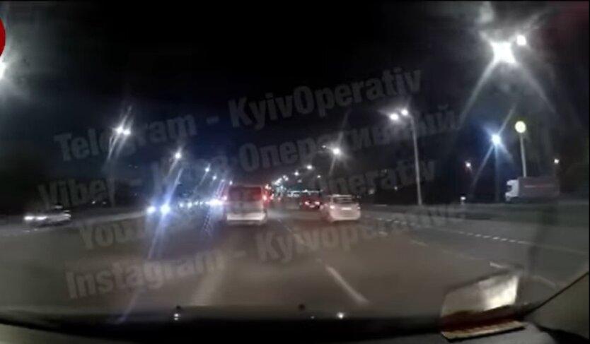 ДТП в Киеве, таксист, Skoda