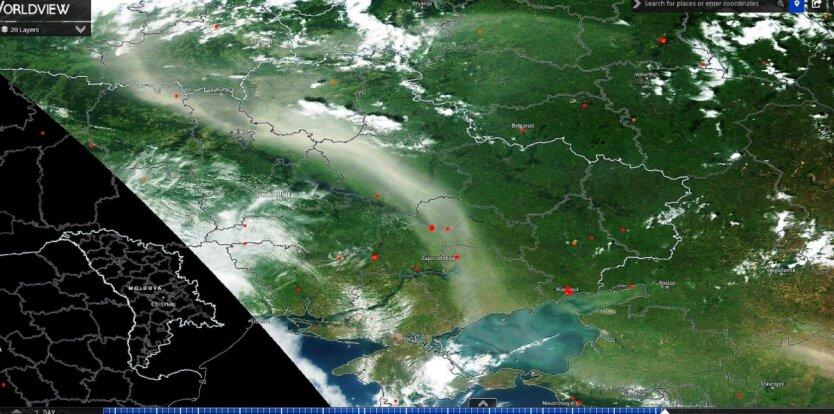 Погода: снимок из космоса