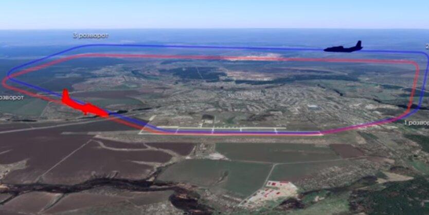 Схема воздушного движения на военном аэродроме