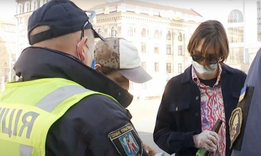 Полиция рассказала, как штрафует украинцев за отсутствие масок