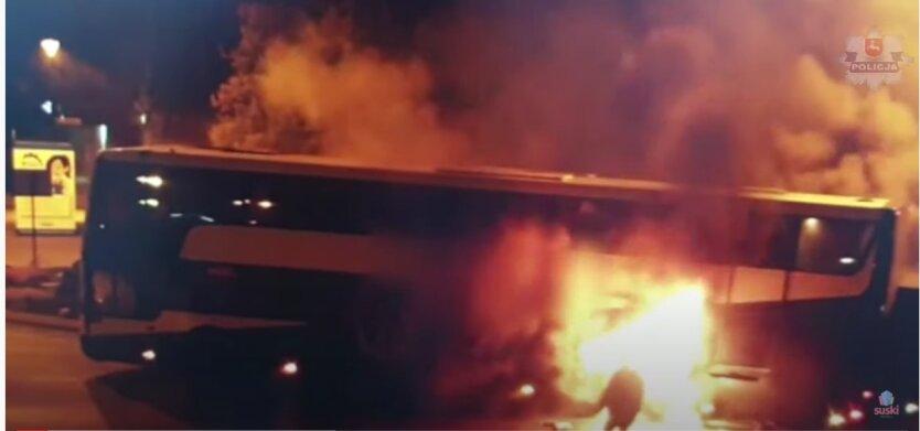 Пожар в автобусе, Польша