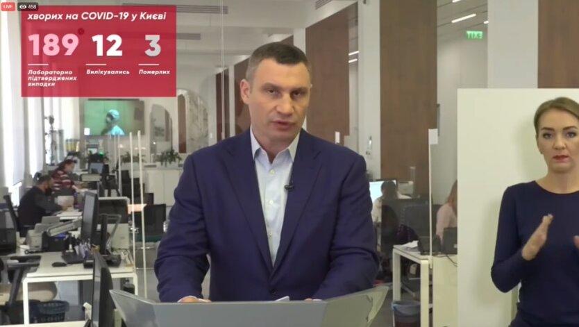 Виталий Кличко, коронавирус, Киве
