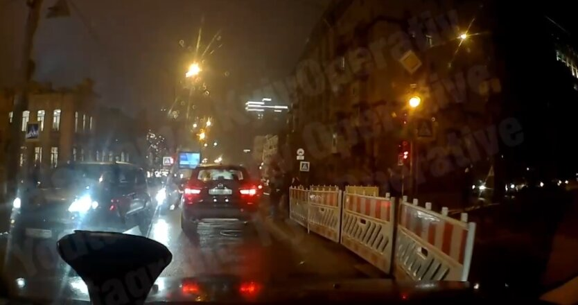 Киев, нарушение ПДД