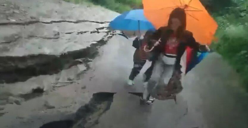 Яремче, дорога, наводнение