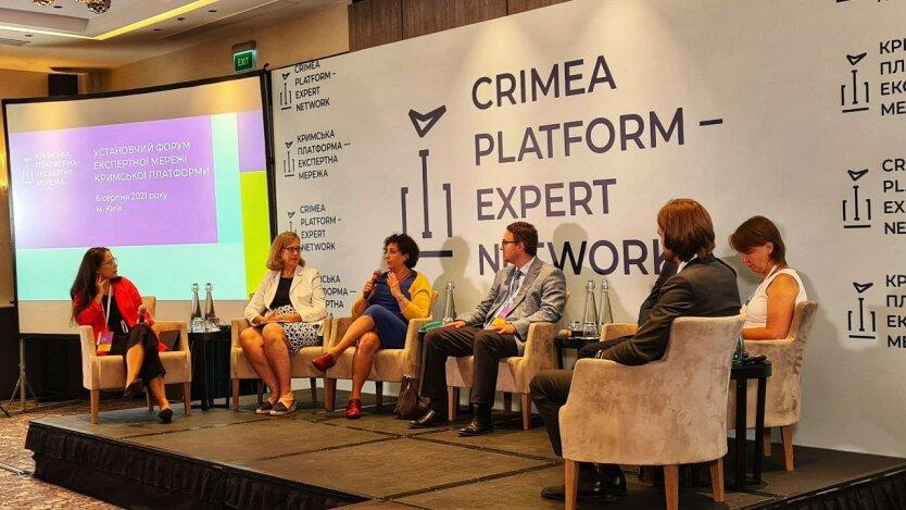 Мелинда Симмонс на Крымской платформе, фото - https://twitter.com/MelSimmonsFCDO