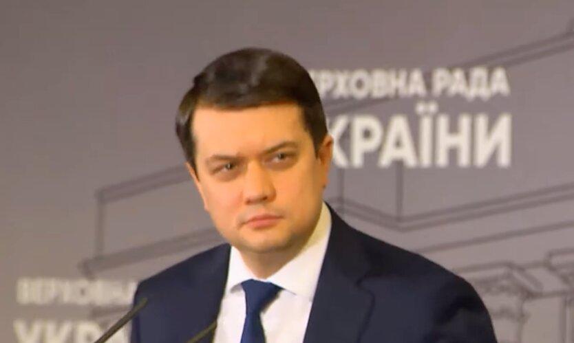 Дмитрий Разумков, блокировка каналов медведчука