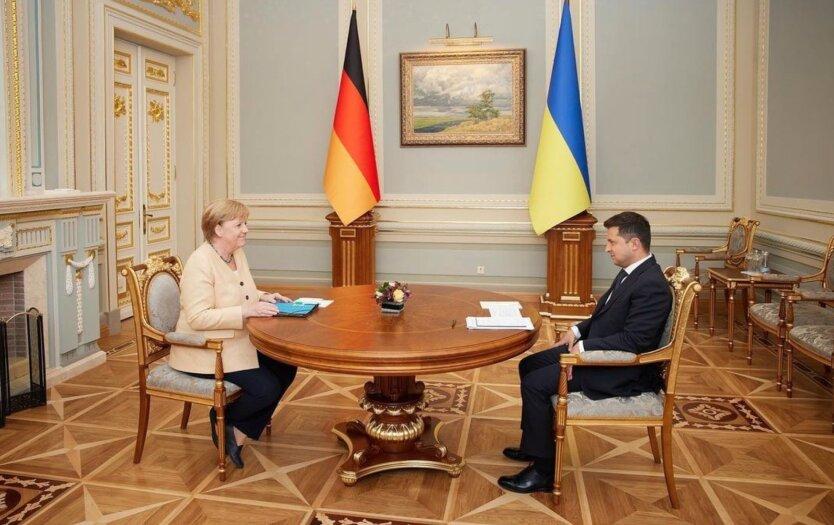 Встреча Меркель и Зеленского в киеве
