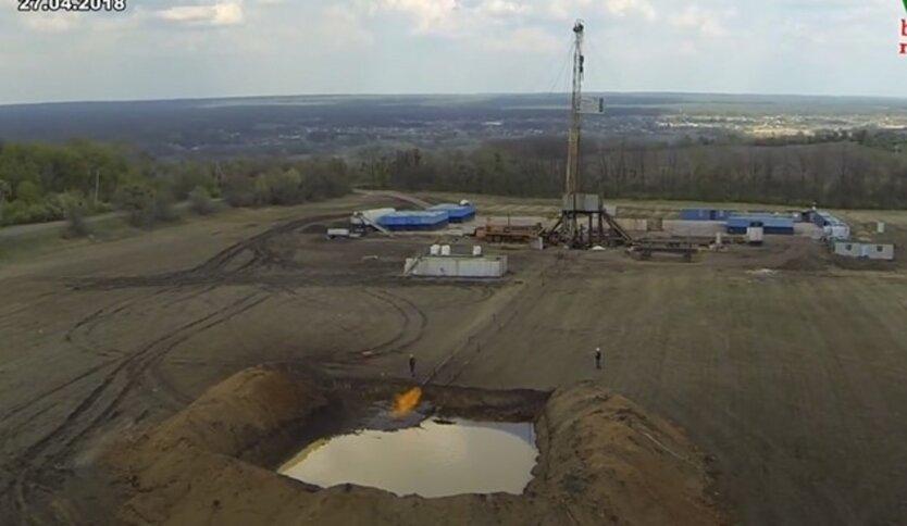 Добыча газа в Украине