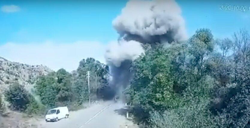Взрыв моста над рекой Акар