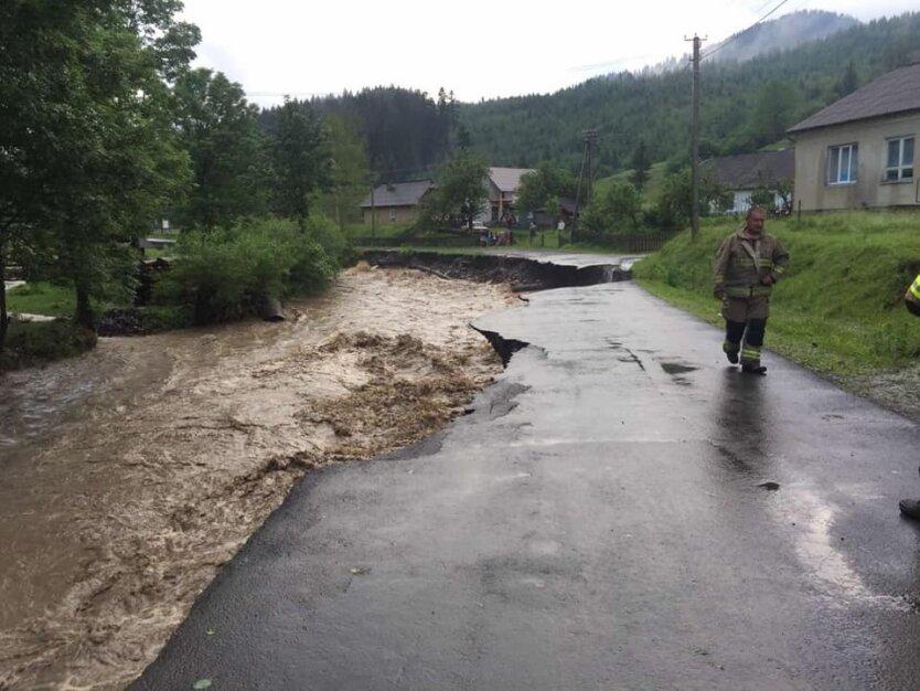 Наводнение на Закарпатье, осадки на западной украине