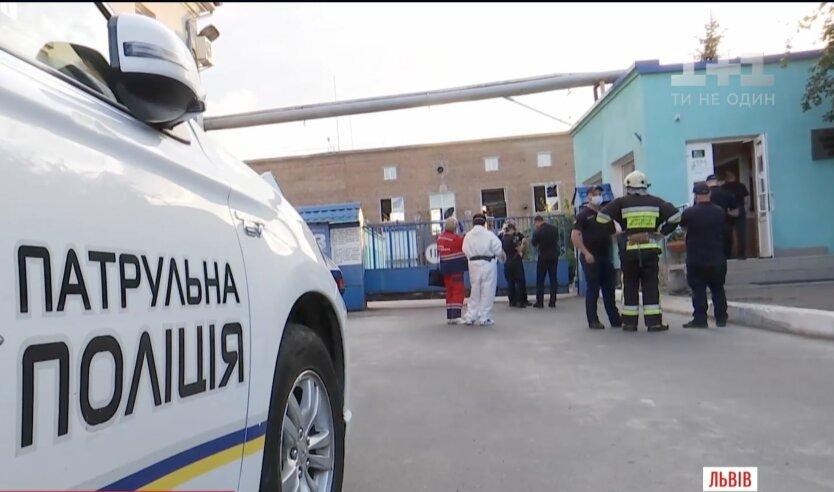 Взрыв на химзаводе во Львове