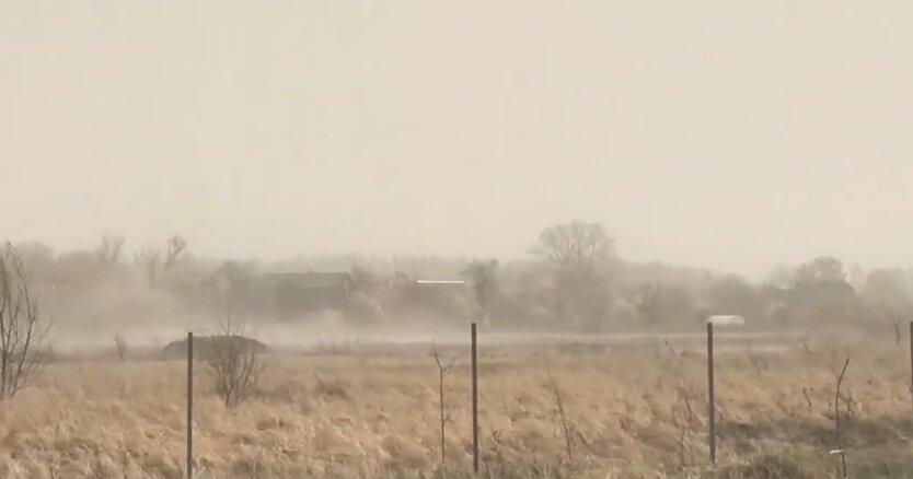 Киев, пылевая буря