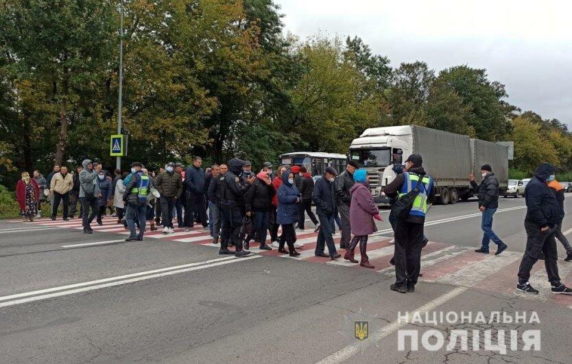 Акция протеста в Черновицкой области