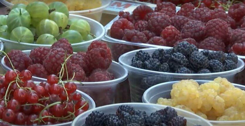 Цены на фрукты и ягоды
