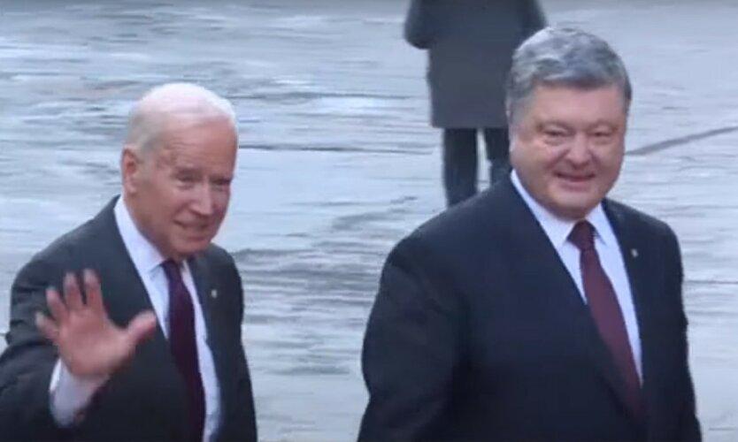 Запад по-разному отреагировал на скандал с пленками Порошенко-Байдена