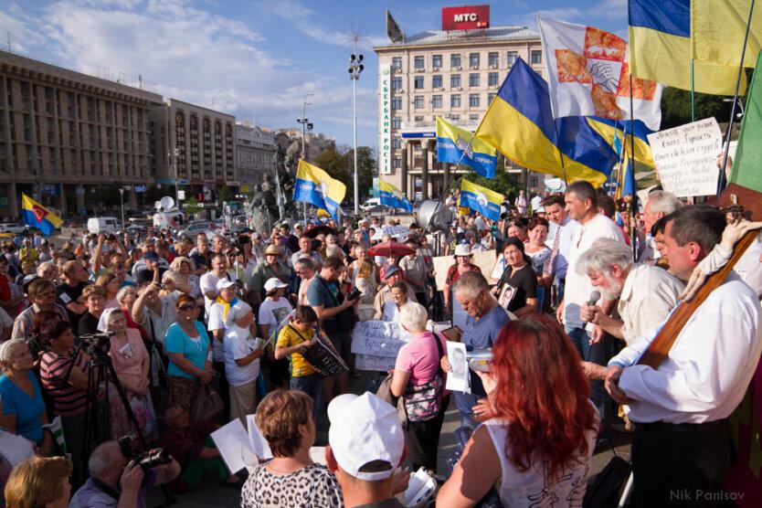 Акция протеста на Майдане. Врадиевские ходоки