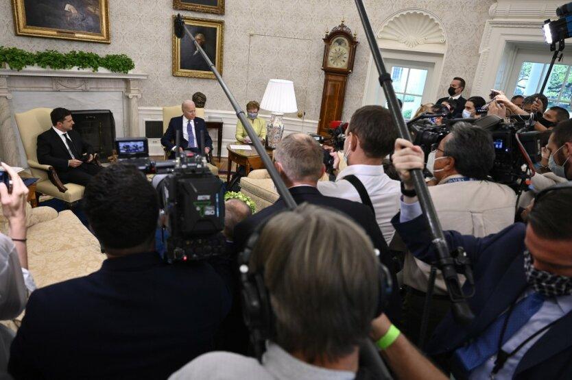 Встреча президента Украины Владимира Зеленского с президентом США Джозефом Байденом