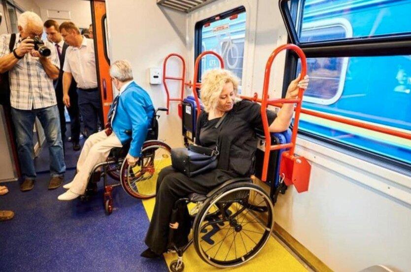 Укрзализныця показала первый инклюзивный поезд