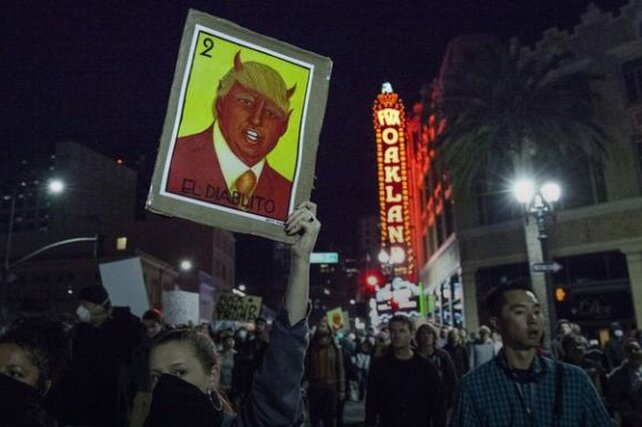 демонстрации против Трампа