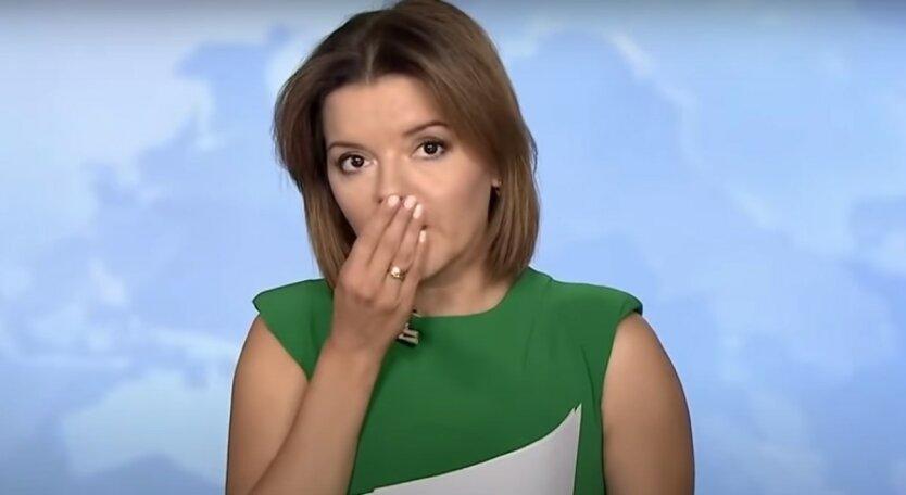 """Маричка Падалко,Курьез в прямом эфире,у украинской ведущей """"ТСН"""" на """"1+1"""" выпал зуб"""