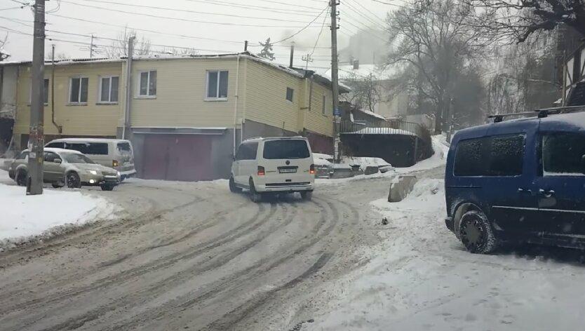 Гололедица, снег, Украина