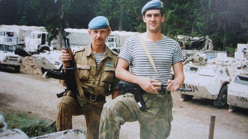 Украинские миротворцы в боснийском анклаве Жепа, 1995 год