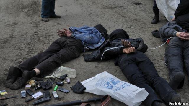 Терористы в Славянске