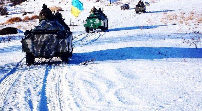 зима АТО танки украинская армия