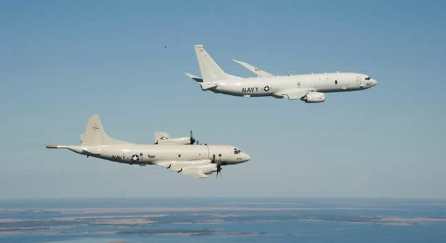 военные самолеты США P-8A Poseidon
