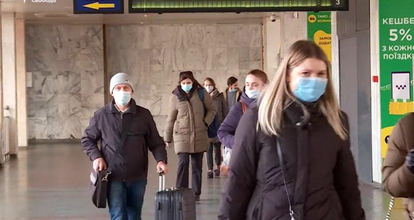 Карантин в Украине, штрафы, защитная маска