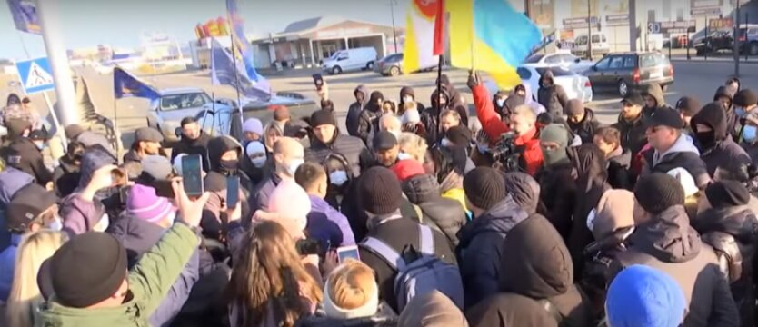 Протест на 7 километре